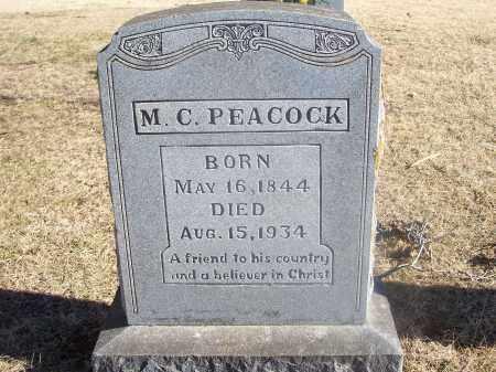 PEACOCK, M. C. - Washington County, Arkansas | M. C. PEACOCK - Arkansas Gravestone Photos