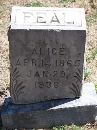 PEAL, ALICE - Washington County, Arkansas | ALICE PEAL - Arkansas Gravestone Photos