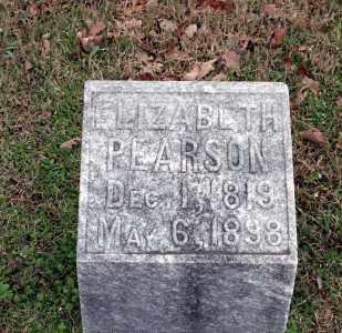 PEARSON, ELIZABETH - Washington County, Arkansas | ELIZABETH PEARSON - Arkansas Gravestone Photos