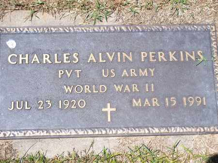 PERKINS (VETERAN WWII), CHARLES ALVIN - Washington County, Arkansas | CHARLES ALVIN PERKINS (VETERAN WWII) - Arkansas Gravestone Photos
