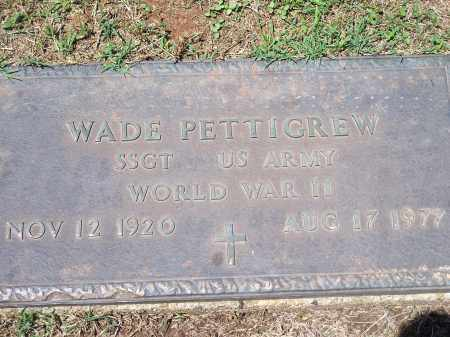 PETTIGREW (VETERAN WWII), WADE - Washington County, Arkansas | WADE PETTIGREW (VETERAN WWII) - Arkansas Gravestone Photos