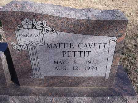 CAVETT PETTIT, MATTIE - Washington County, Arkansas | MATTIE CAVETT PETTIT - Arkansas Gravestone Photos