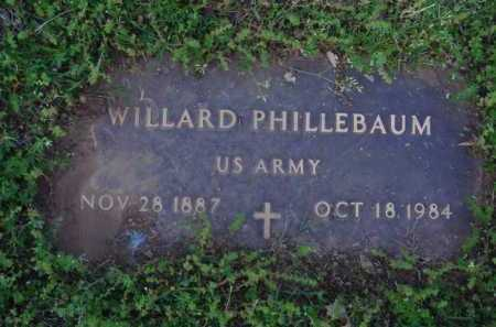 PHILLEBAUM  (VETERAN), WILLARD - Washington County, Arkansas | WILLARD PHILLEBAUM  (VETERAN) - Arkansas Gravestone Photos