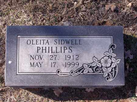 SIDWELL PHILLIPS, OLEITA - Washington County, Arkansas | OLEITA SIDWELL PHILLIPS - Arkansas Gravestone Photos