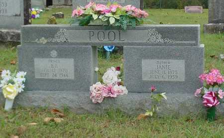 "POOL, SARAH JANE ""JANIE"" - Washington County, Arkansas 