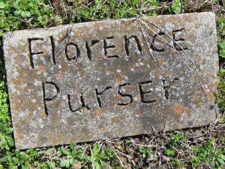PURSER, FLORENCE - Washington County, Arkansas | FLORENCE PURSER - Arkansas Gravestone Photos