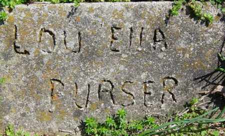 PURSER, LOU ELLA - Washington County, Arkansas | LOU ELLA PURSER - Arkansas Gravestone Photos