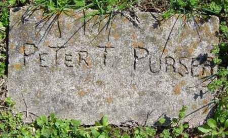 PURSER, PETER T. - Washington County, Arkansas   PETER T. PURSER - Arkansas Gravestone Photos