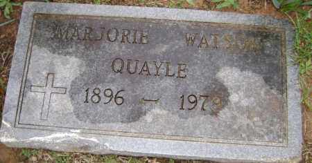 WATSON QUARLE, MARJORIE - Washington County, Arkansas | MARJORIE WATSON QUARLE - Arkansas Gravestone Photos