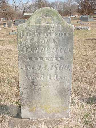 QUILLIN, INFANT SON - Washington County, Arkansas | INFANT SON QUILLIN - Arkansas Gravestone Photos