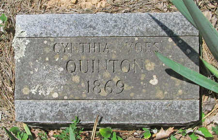 YOES QUINTON, CYNTHIA - Washington County, Arkansas | CYNTHIA YOES QUINTON - Arkansas Gravestone Photos