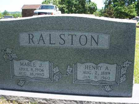 RALSTON, HENRY A. - Washington County, Arkansas | HENRY A. RALSTON - Arkansas Gravestone Photos