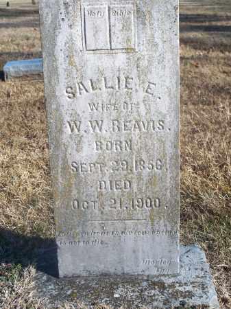 REAVIS, SALLIE E. - Washington County, Arkansas | SALLIE E. REAVIS - Arkansas Gravestone Photos