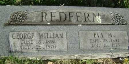 REDFERN, GEORGE WILLIAM - Washington County, Arkansas | GEORGE WILLIAM REDFERN - Arkansas Gravestone Photos