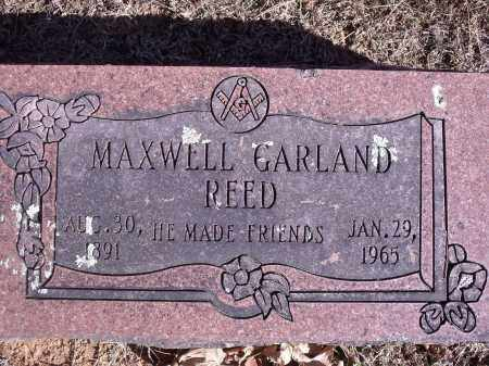 REED, MAXWELL GARLAND - Washington County, Arkansas | MAXWELL GARLAND REED - Arkansas Gravestone Photos