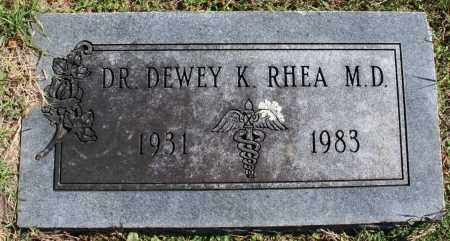 RHEA, DEWEY K., M. D. - Washington County, Arkansas | DEWEY K., M. D. RHEA - Arkansas Gravestone Photos