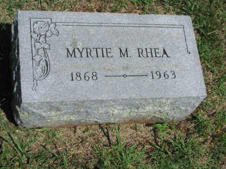 RHEA, MYRTIE CLYDE - Washington County, Arkansas | MYRTIE CLYDE RHEA - Arkansas Gravestone Photos