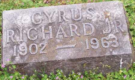 RICHARD, CYRUS JR. - Washington County, Arkansas | CYRUS JR. RICHARD - Arkansas Gravestone Photos