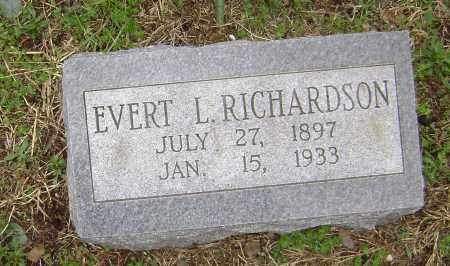 RICHARDSON, EVERT L. - Washington County, Arkansas | EVERT L. RICHARDSON - Arkansas Gravestone Photos