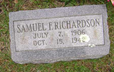 RICHARDSON, SAMUEL F. - Washington County, Arkansas | SAMUEL F. RICHARDSON - Arkansas Gravestone Photos