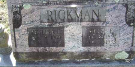 RICKMAN, JESSE E. - Washington County, Arkansas | JESSE E. RICKMAN - Arkansas Gravestone Photos