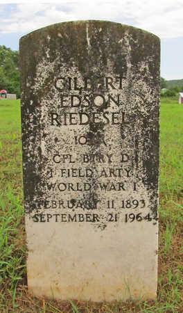 RIEDESEL  (VETERAN WWI), GILBERT EDSON - Washington County, Arkansas | GILBERT EDSON RIEDESEL  (VETERAN WWI) - Arkansas Gravestone Photos