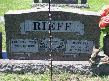 RIEFF, DEWEY LEE - Washington County, Arkansas | DEWEY LEE RIEFF - Arkansas Gravestone Photos
