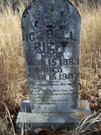 RIEFF, ICE BELL - Washington County, Arkansas | ICE BELL RIEFF - Arkansas Gravestone Photos