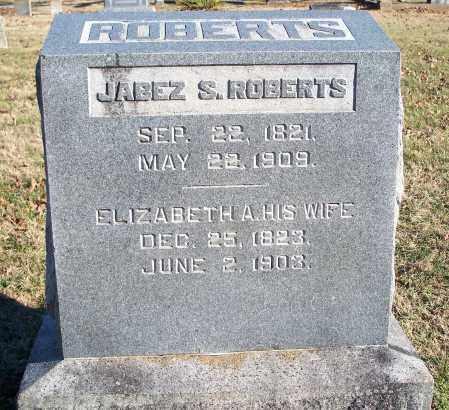 ROBERTS, JABEZ S. - Washington County, Arkansas | JABEZ S. ROBERTS - Arkansas Gravestone Photos