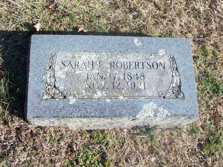 ROBERTSON, SARAH E. - Washington County, Arkansas | SARAH E. ROBERTSON - Arkansas Gravestone Photos