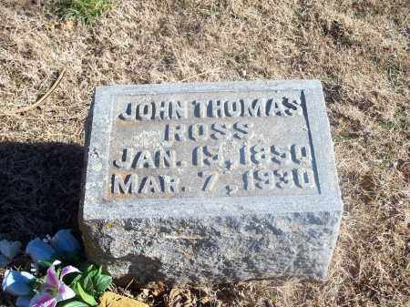 ROSS, JOHN THOMAS - Washington County, Arkansas | JOHN THOMAS ROSS - Arkansas Gravestone Photos