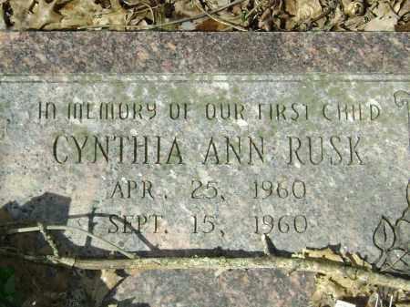 RUSK, CYNTHIA ANN - Washington County, Arkansas | CYNTHIA ANN RUSK - Arkansas Gravestone Photos