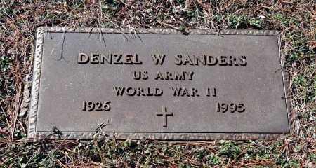 SANDERS (VETERAN WWII), DENZEL W. - Washington County, Arkansas | DENZEL W. SANDERS (VETERAN WWII) - Arkansas Gravestone Photos