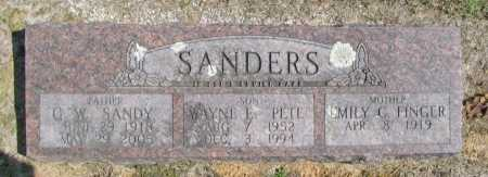 "SANDERS, G.W. ""SANDY"" - Washington County, Arkansas 