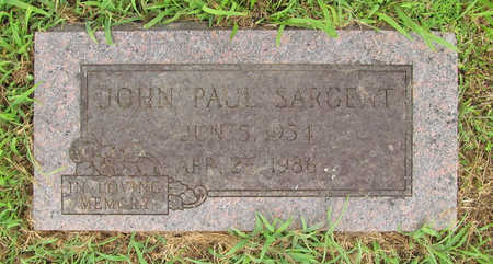 SARGENT, JOHN PAUL - Washington County, Arkansas | JOHN PAUL SARGENT - Arkansas Gravestone Photos