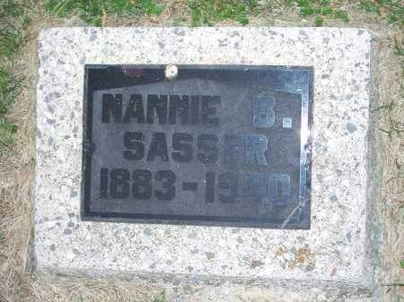 SASSER, NANNIE B. - Washington County, Arkansas | NANNIE B. SASSER - Arkansas Gravestone Photos