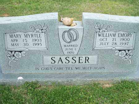 SASSER, WILLIAM EMORY - Washington County, Arkansas | WILLIAM EMORY SASSER - Arkansas Gravestone Photos