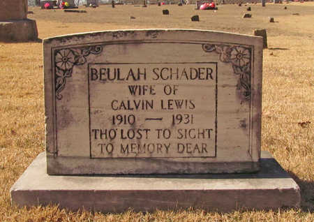 SCHADER LEWIS, BEULAH - Washington County, Arkansas | BEULAH SCHADER LEWIS - Arkansas Gravestone Photos