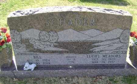 MEADOWS SCHADER, LUCIFL - Washington County, Arkansas | LUCIFL MEADOWS SCHADER - Arkansas Gravestone Photos