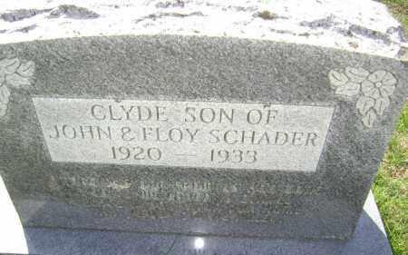 SCHADER, CLYDE - Washington County, Arkansas   CLYDE SCHADER - Arkansas Gravestone Photos