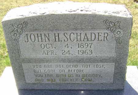 SCHADER, JOHN H. - Washington County, Arkansas | JOHN H. SCHADER - Arkansas Gravestone Photos