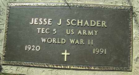 SCHADER (VETERAN WWII), JESSE J. - Washington County, Arkansas | JESSE J. SCHADER (VETERAN WWII) - Arkansas Gravestone Photos