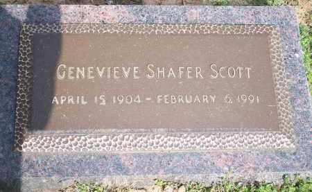 SHAFER SCOTT, GENEVIEVE - Washington County, Arkansas | GENEVIEVE SHAFER SCOTT - Arkansas Gravestone Photos