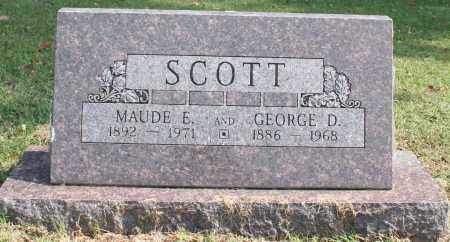 SCOTT, GEORGE D. - Washington County, Arkansas | GEORGE D. SCOTT - Arkansas Gravestone Photos