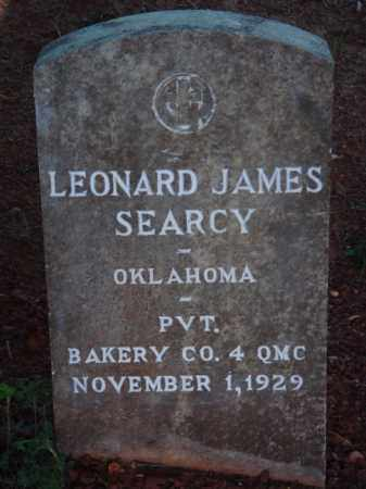SEARCY  (VETERAN), LEONARD JAMES - Washington County, Arkansas | LEONARD JAMES SEARCY  (VETERAN) - Arkansas Gravestone Photos