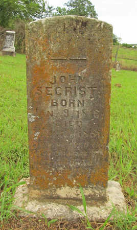 SECRIST, JOHN - Washington County, Arkansas | JOHN SECRIST - Arkansas Gravestone Photos