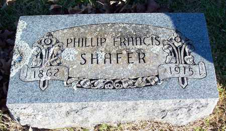 SHAFER, PHILLIP FRANCIS - Washington County, Arkansas | PHILLIP FRANCIS SHAFER - Arkansas Gravestone Photos