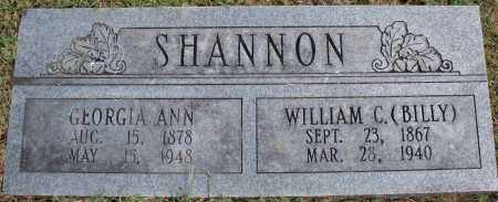 SHANNON, WILLIAM C. (BILLY) - Washington County, Arkansas | WILLIAM C. (BILLY) SHANNON - Arkansas Gravestone Photos