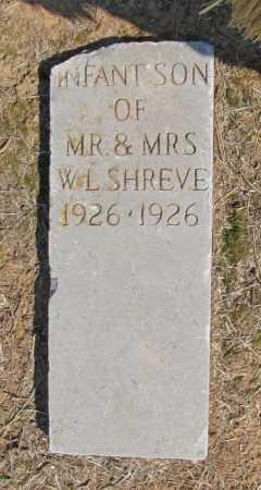 SHREVE, INFANT SON - Washington County, Arkansas   INFANT SON SHREVE - Arkansas Gravestone Photos