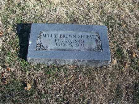 BROWN SHREVE, MILLIE - Washington County, Arkansas | MILLIE BROWN SHREVE - Arkansas Gravestone Photos